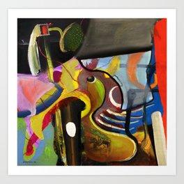 Circus Juice (oil on canvas) Art Print