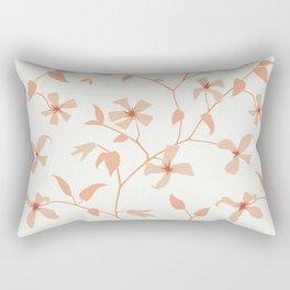 Floral Clematis Vine Rectangular Pillow