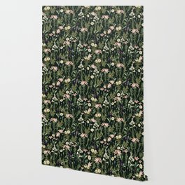 Dark Botanical Garden #society6 #natureart #pattern Wallpaper