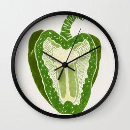 Green Pepper Wall Clock