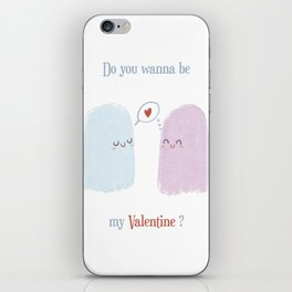 Do you wanna be my valentine? iPhone Skin