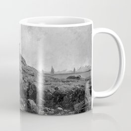 Fort Dumpling, Jamestown, Rhode Island, Narragansett Bay by George L. Clough Coffee Mug