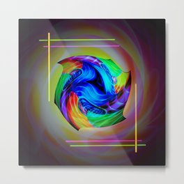 Abstract in perfection - Cube 5 Metal Print