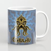 cthulhu Mugs featuring Cthulhu return by Enrique Valles
