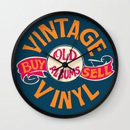 Vintage Vinyl, Old Album Wall Clock