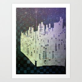 On The Spatial Grid Art Print