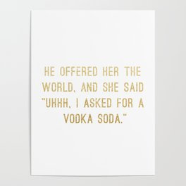 Vodka Soda Poster