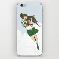 sailor jupiter iPhone & iPod Skins featuring Sailor Jupiter by Neal Julian