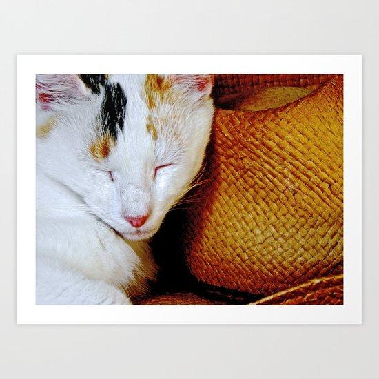 The Cowboy's Cat Art Print