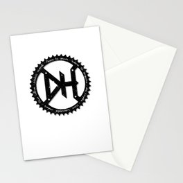 Downhill chainring Stationery Cards