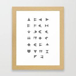 Beeline - Typeface Framed Art Print