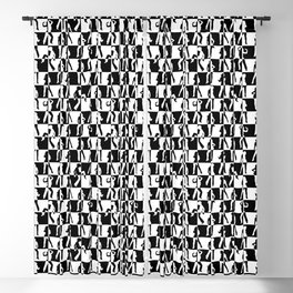Black and White Check Retro 80s Disco Dancer Blackout Curtain