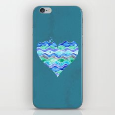 A Sea of Love (blue) iPhone Skin