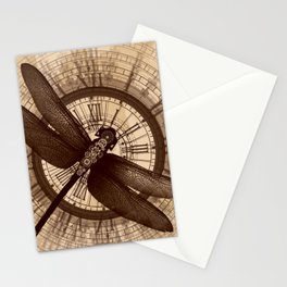 Steampunk - Mechanical Dragonfly Stationery Cards