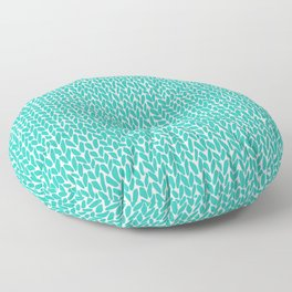 Hand Knit Aqua Floor Pillow