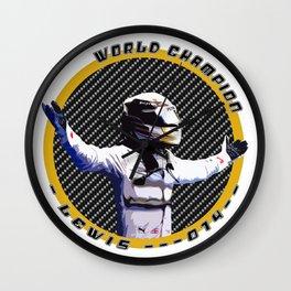 Lewis World Champion 2014 Wall Clock