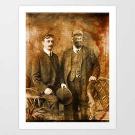 The Professor and his man. Art Print