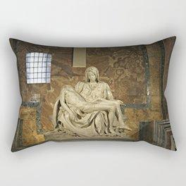 Michelangelo's Pieta in St. Peter's Basilica                                              Rectangular Pillow