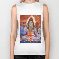 shiva Biker Tanks featuring Shiva by Antonimo-discipulosinmaestro
