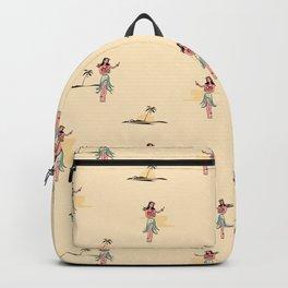 Tropical Vibes - Hula Dancer Sand Backpack