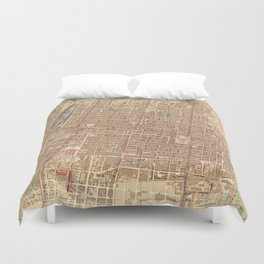 Vintage Map of Mexico City (1907) Duvet Cover