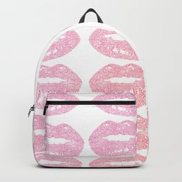 bitten lips gradient pattern doodle Backpack