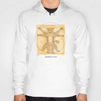 da vinci Hoodies featuring Leopardo da Vinci by Nanu Illustration