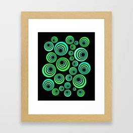 Neon blue and green Framed Art Print
