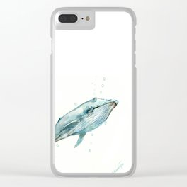 Whale in the OCean Clear iPhone Case