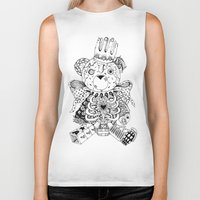 teddy bear Biker Tanks featuring Teddy Bear by Gribouilliz