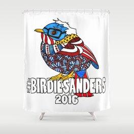Bernie Sanders Bird!  Birdie Sanders!  Feel The Bern Shower Curtain