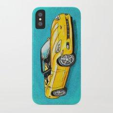 Yellow Corvette Slim Case iPhone X