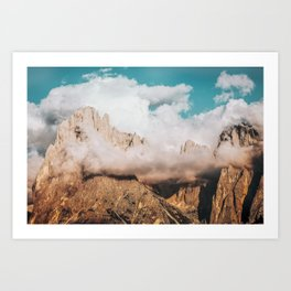 Mountains in Clouds.  Nature Landscape Photography Art Print