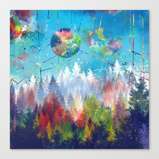colorful forest 3 Canvas Print