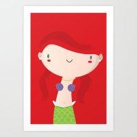 ariel Art Prints featuring Ariel by Maria Jose Da Luz