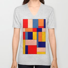 Abstract #340 Unisex V-Neck