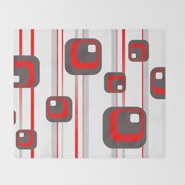 Vintage Retro Graphic white Throw Blanket