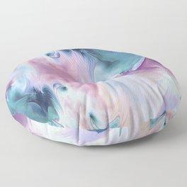 Abstract Art- Watercolor Art- Fractal Art- Blue Art- Ocean- Water- Marann Floor Pillow