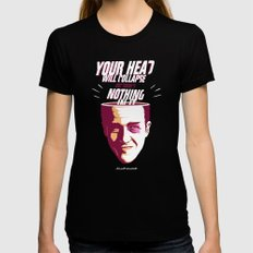 Your Head Will Collapse Womens Fitted Tee Black X-LARGE