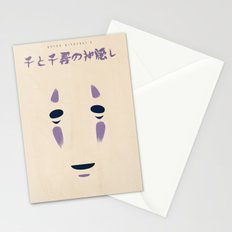 Spirited Away - No Face Minimalist, Miyazaki, Studio Ghibli Stationery Cards