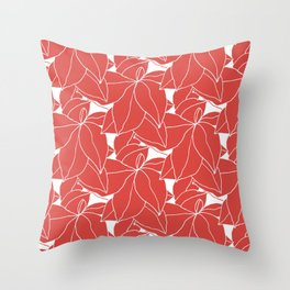 Floral in Red Throw Pillow