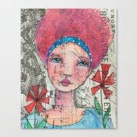 zelda Canvas Prints featuring Zelda by Judy Skowron