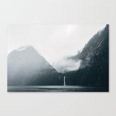 Milford Sound on a rainy day Canvas Print