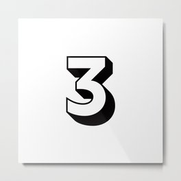 Lucky Number Three ... 3 Metal Print