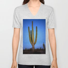 Blue cactus Unisex V-Neck