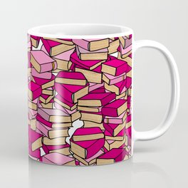 Book Collection in Pink Coffee Mug