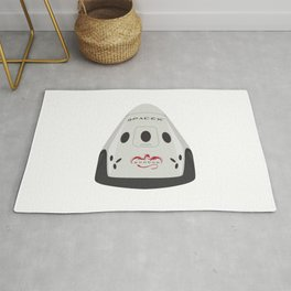 SpaceX Red Dragon Rug