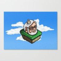 hayao miyazaki Canvas Prints featuring Hayao Miyazaki by mr adam cain
