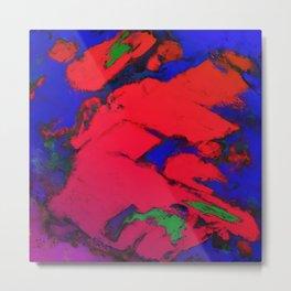 Red erosion Metal Print