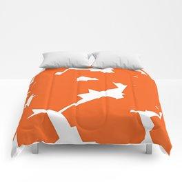 ORANGE AND WHITE PRINT Comforters